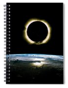 Solar Eclipse From Above The Earth - Infrared View Spiral Notebook