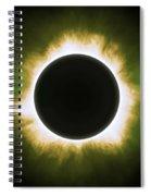 Solar Eclipse In Infrared Spiral Notebook