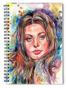 Sophia Loren Painting Spiral Notebook