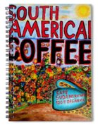 South American Coffee Spiral Notebook