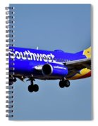 Southwest Airlines Airplane In Flight Spiral Notebook