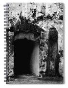 Spanish Fort Doorway Spiral Notebook