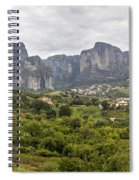 Spectacular Meteora Rock Formations Spiral Notebook