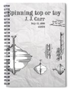 Spinning Top Or Toy Patent Art Spiral Notebook
