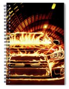 Sports Car In Flames Spiral Notebook