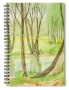 Spring Landscape, Painting Spiral Notebook