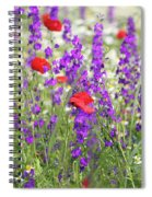 Spring Meadow With Wild Flowers Spiral Notebook