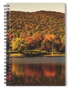 Squantz Pond In Autumn Spiral Notebook