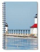 St Joseph North Pier Lights Spiral Notebook