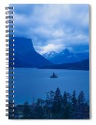 St. Mary Lake, Glacier National Park Spiral Notebook