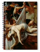 St Sebastian Thrown Into The Cloaca Maxima Spiral Notebook