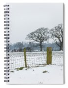 Standing In The Snow Spiral Notebook