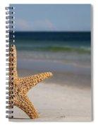 Starfish Standing On The Beach Spiral Notebook