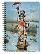 Statue Of Liberty Cartoon Spiral Notebook