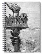 Statue Of Liberty: Torch Spiral Notebook