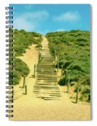 Steps To The Beach Spiral Notebook