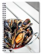 Stewed Fresh Mussels In Spicy Garlic Wine Seafood Sauce Spiral Notebook