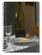 Still Life With Bottle Carafe Bread And Wine Spiral Notebook