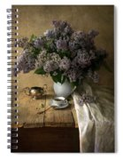 Still Life With Bouquet Of Fresh Lilacs Spiral Notebook