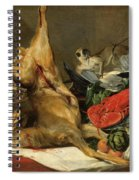 Still Life With Dead Game, A Monkey, A Parrot, And A Dog Spiral Notebook