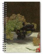 Still Life With Grapes And A Carnation Spiral Notebook