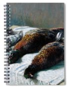 Still Life With Pheasants And Plovers Spiral Notebook