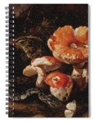 Still Life With Serpents, Fly Agarics And Thistles Spiral Notebook