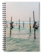 Stilt Fishermen - Sri Lanka Spiral Notebook