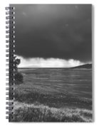 Storm Brewing Over The Mud Flats Spiral Notebook