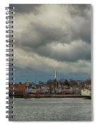 Storm Clouds Over The Bass River Spiral Notebook