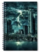 Storm Over Frankfurt Spiral Notebook
