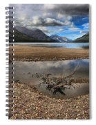 Storms Over Upper Waterton Lake Spiral Notebook
