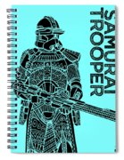 Stormtrooper - Star Wars Art - Blue Spiral Notebook