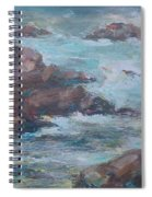 Stormy Sea Seascape Spiral Notebook