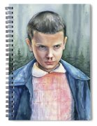 Stranger Things Eleven Portrait Spiral Notebook