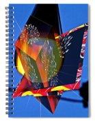 Street Light And Fireworks As Art Spiral Notebook