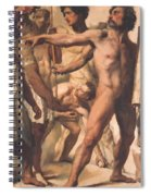 Study For The Martyrdom Of St Symphorien 1834  Spiral Notebook