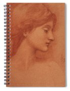 Study Of A Female Head Spiral Notebook