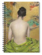 Study Of Flesh Color And Gold Spiral Notebook