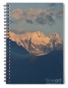 Stunning Countryside Of Northern Italy With The Alps  Spiral Notebook