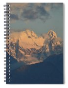 Stunning Landscape In The Italian Alps With A Cloudy Sky  Spiral Notebook