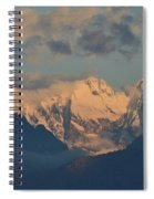 Stunning Landscape View Of The Italian Alps  Spiral Notebook