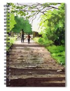 Summers Day Hardcastle Crags. Spiral Notebook