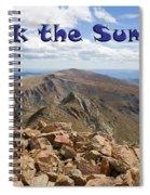 Summit Of Mount Bierstadt In The Arapahoe National Forest Spiral Notebook