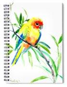 Sun Parakeet Spiral Notebook