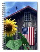 Sunflower By Barn Spiral Notebook