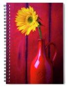 Sunflower In Red Pitcher Spiral Notebook