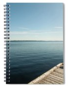 Sunny Day At The Dock Spiral Notebook