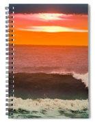 Sunrise Kissing Surf Spiral Notebook