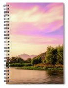 Sunrise On The Gila Spiral Notebook
